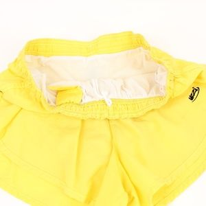 Uzzi Shorts - Vintage Uzzi Bright Yellow Running Short Shorts